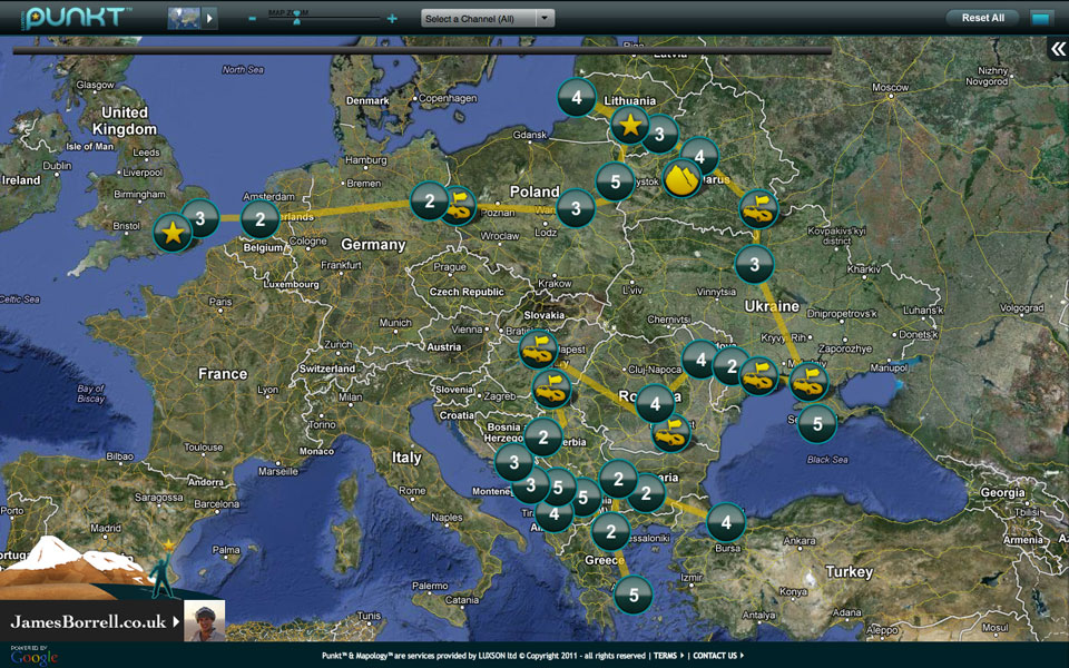 Screen shot punkt web London to Istanbul