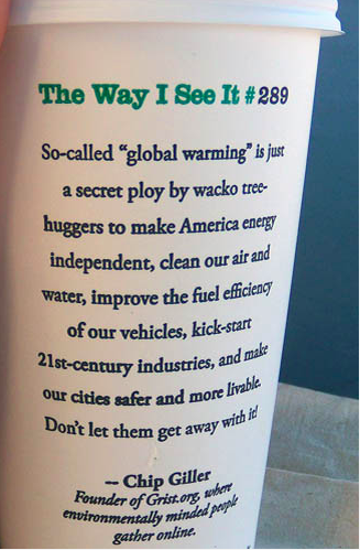 Grist Coffee Cup Global Warming