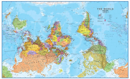 Maps Of The World That Put Conservation In Perspective Dr - Australian map of the world