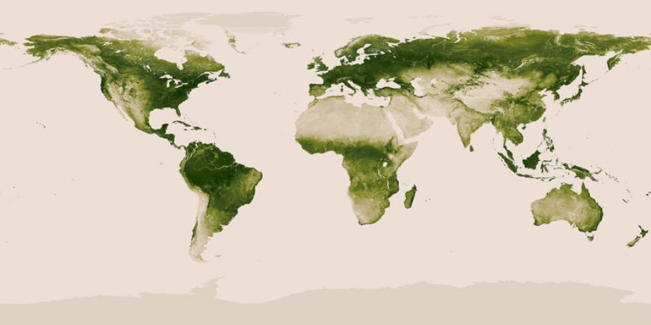 14 maps of the world that put conservation in perspective dr for biologists a map of earths vegetation gumiabroncs Images