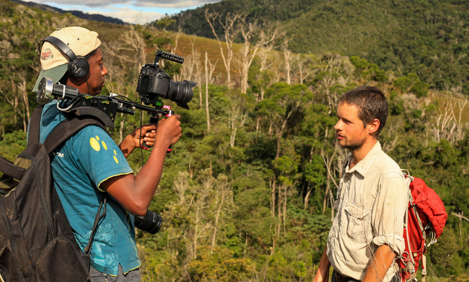 James Borrell Filming Madagascar